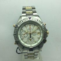 Seiko Stahl 42,5mm Quarz Seiko chronograph,two tone,clearance 240€ neu