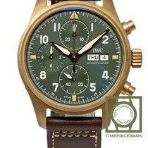 IWC Pilot Spitfire Chronograph Bronze 41mm Vert Arabes