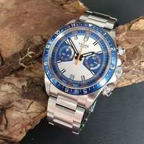 Tudor Heritage Chrono Blue pre-owned 42mm White Chronograph Date Steel