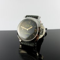Panerai Aço Corda manual Preto Árabes 47mm usado Luminor Marina 1950 3 Days