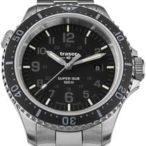 Traser Steel 46mm Quartz 109376 new