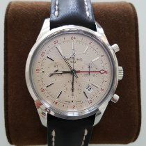 Breitling Transocean Chronograph GMT Acero Plata