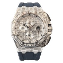 Audemars Piguet White gold Automatic No numerals 44mm new Royal Oak Offshore Chronograph