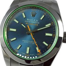 Rolex Milgauss Ocel 40mm Modrá Bez čísel