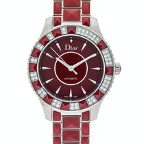 Dior Christal Acero 38mm Rojo