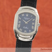 Rolex Cellini White gold 29.5mm Blue