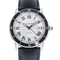 Cartier Ronde Croisière de Cartier pre-owned 42mm Silver Date Leather
