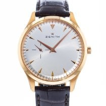Zenith Rose gold Automatic Silver 40mm pre-owned Elite Ultra Thin