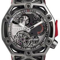 Hublot Techframe Ferrari Tourbillon Chronograph Titanium 45mm Black No numerals