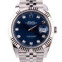 Rolex Datejust Acero 41mm Azul Sin cifras