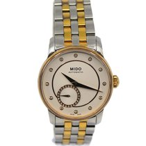 Mido Baroncelli II Gold/Steel 35mm White United States of America, New York, New York
