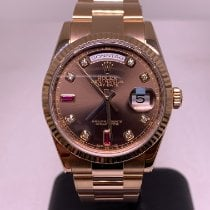 Rolex Day-Date 36 Rose gold 36mm Brown