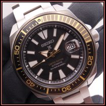 Seiko Prospex Steel 43,8mm Black No numerals