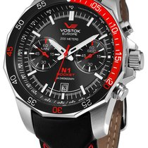 Vostok 6S21-2255295 New Steel 46mm Quartz