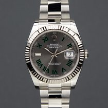 Rolex Datejust Stahl 41mm Grau Römisch