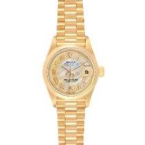 Rolex Lady-Datejust Or jaune 26mm Nacre Romains