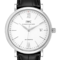 IWC Portofino Automatic pre-owned 40mm Silver Date Leather