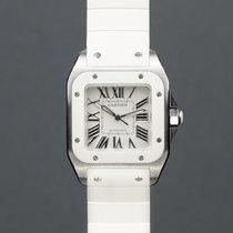 Cartier Santos 100 Сталь 32mm Белый Римские