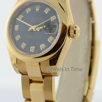 Rolex Yellow gold Automatic Blue 26mm new Lady-Datejust