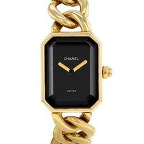 Chanel Yellow gold Quartz Black 20mm pre-owned Première