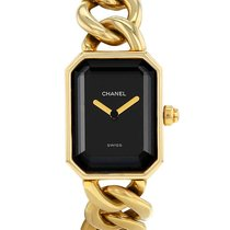 Chanel Yellow gold Quartz Black pre-owned Première