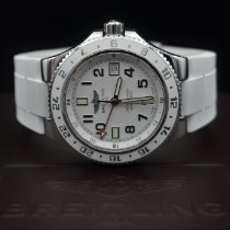 Breitling Superocean GMT Steel 41mm White Arabic numerals
