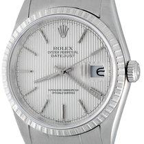 Rolex Datejust Stahl 36mm Silber Keine Ziffern