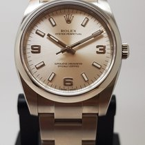 Rolex Air King Steel 34mm Silver Arabic numerals