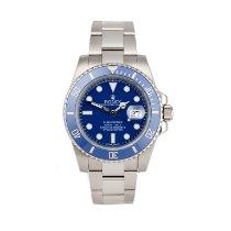 Rolex Submariner Date White gold 40mm Blue