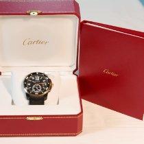 Cartier Calibre de Cartier Diver Acero y oro 42mm Negro Romanos