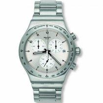 Swatch Stahl 43mm Quarz YVS433G neu