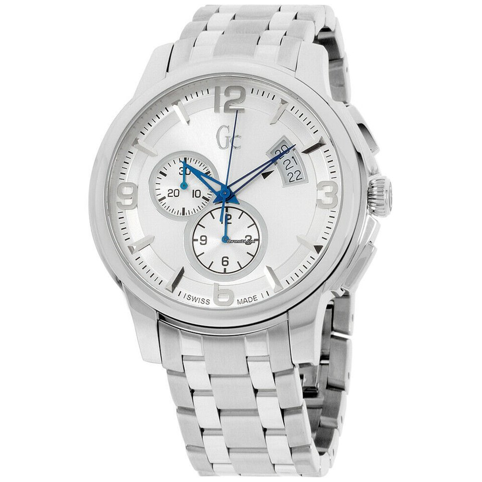 Guess Classica Quartz Movement Silver Dial Men's Watches X83001g1s