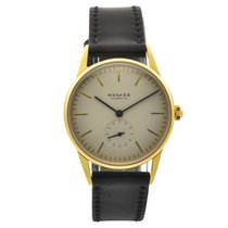 NOMOS Yellow gold 35mm Manual winding 271- Nomos Orion pre-owned