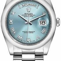Rolex Day-Date 36 Platinum 36mm Blue Roman numerals United Kingdom, London