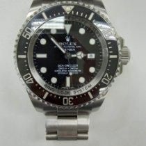 劳力士 Sea-Dweller Deepsea 钢 44mm 黑色 无数字