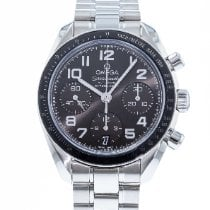 Omega Steel Automatic Grey 38mm pre-owned Speedmaster Ladies Chronograph