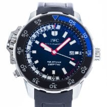 IWC Aquatimer Deep Two Сталь 46mm Черный