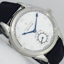 Pequignet new Manual winding Display back Small seconds Tempered blue hands 42mm Steel Sapphire crystal