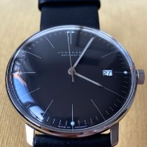 Junghans Steel Automatic Black 38mm pre-owned max bill Automatic