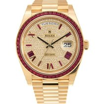 Rolex Day-Date 40 Oro amarillo 40mm Transparente Romanos