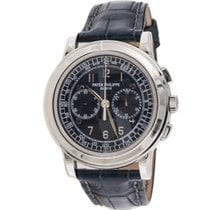 Patek Philippe Chronograph pre-owned 42mm Blue Chronograph Leather