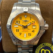 Breitling Avenger II Seawolf Steel 45mm Yellow Arabic numerals