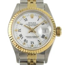 Rolex Lady-Datejust Goud/Staal 26mm Wit