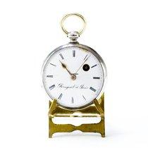 브레게 은 수동감기 흰색 로마숫자 43mm 중고시계