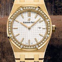 Audemars Piguet Royal Oak Lady Yellow gold 33mm Silver No numerals
