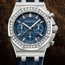 Audemars Piguet Royal Oak Offshore Lady Сталь 37mm Синий Без цифр