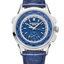 Patek Philippe World Time Chronograph Aur alb 39.5mm Albastru Fara cifre