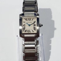 Cartier Tank Française Steel 20mm White Roman numerals