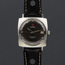 Roamer Steel Automatic Black 34mm pre-owned Stingray