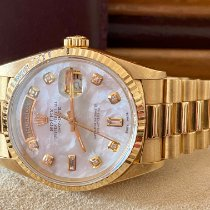 Rolex Day-Date 36 Or jaune 36mm Nacre Sans chiffres France, paris